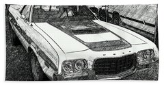 Classic Ford Sketch Bath Towel