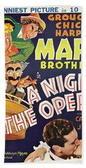 Classic Movie Poster - A Night At The Opera Bath Towel