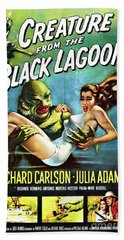 Classic Movie Poster - Creature From The Black Lagoon Hand Towel