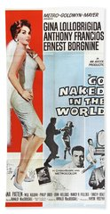 Classic Movie Poster - Go Naked In The World Hand Towel