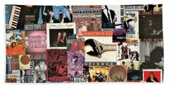 Classic Pop Rock Music Collage 4 Hand Towel