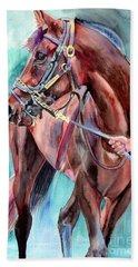 Classical Horse Portrait Bath Towel