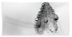 Clematis Bud In Rain Bath Towel