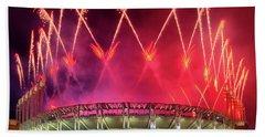 Cleveland Indians Fireworks Bath Towel