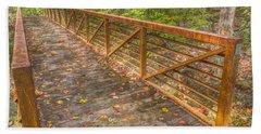 Close Up Of Bridge At Pine Quarry Park Hand Towel