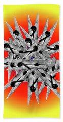 Clothespin Pop Art Warhol Style Print - #1 Hand Towel