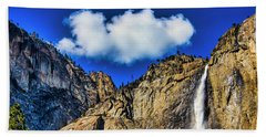 Clouds Abover Upper Yosemite Fall Hand Towel