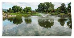 Clouds On Ashley Pond Bath Towel