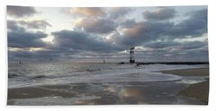 Cloud's Reflections At The Inlet Hand Towel