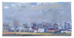 Cloudy Day At The Farm Hand Towel