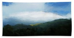 Cloudy View Painting Hand Towel
