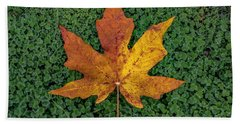Clover Leaf Autumn Bath Towel