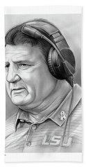 Coach Ed Orgeron Bath Towel