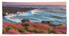 Coastal Clover Sunset Bath Towel