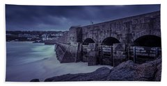 Cold Mood On The Pier Hand Towel