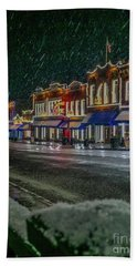 Cold Night In Cripple Creek Hand Towel