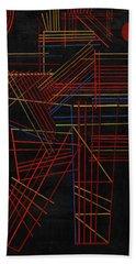 Colored Sticks, 1928 Hand Towel