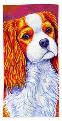 Colorful Cavalier King Charles Spaniel Dog Hand Towel
