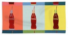 Colorful Coca Cola Pop Art Panels Hand Towel