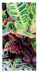 Colorful - Croton - Plant Bath Towel