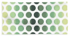 Colorful Dots Pattern - Polka Dots - Pattern Design 1 - Slate, Blue, Teal, Cream Bath Towel