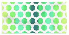 Colorful Dots Pattern - Polka Dots - Pattern Design 3 - Turquoise, Teal, Blue, Green, Aqua Bath Towel