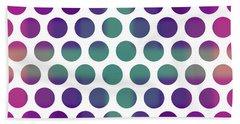 Colorful Dots Pattern - Polka Dots - Pattern Design 4 - Violet, Purple, Indigo Bath Towel