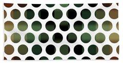 Colorful Dots Pattern - Polka Dots - Pattern Design 5 - Brown, Slate, Grey, Beige, Steel Bath Towel