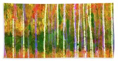 Colorful Forest Abstract Bath Towel
