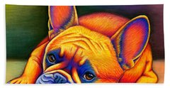 Daydreamer - Colorful French Bulldog Hand Towel