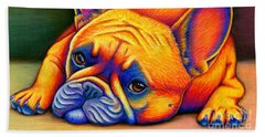 Colorful French Bulldog Hand Towel