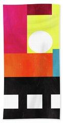 Colorful Geometric Abstract 1- Art By Linda Woods Bath Towel