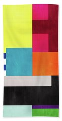 Colorful Geometric Abstract 2- Art By Linda Woods Bath Towel