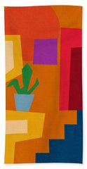 Colorful Geometric House 1- Art By Linda Woods Hand Towel
