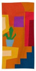 Colorful Geometric House 1- Art By Linda Woods Bath Towel