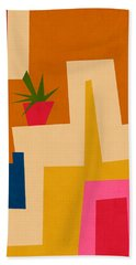 Colorful Geometric House 2- Art By Linda Woods Hand Towel
