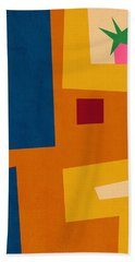 Colorful Geometric House 3- Art By Linda Woods Hand Towel