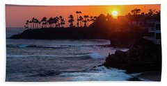 Colorful Laguna Beach Sunset Hand Towel
