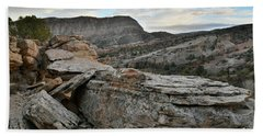 Colorful Overhang In Colorado National Monument Hand Towel