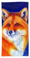 Colorful Red Fox Hand Towel