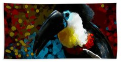 Colorful Toucan Bath Towel