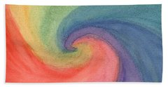 Colorful Wave Hand Towel
