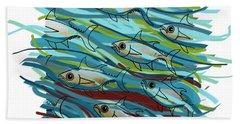 Coloured Water Fish - Digital Change 2 Hand Towel