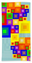 Colourful Cubism  Hand Towel