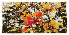 Colourful Leaves Hand Towel
