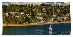 Commencement Bay,washington State Bath Towel
