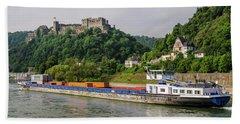 Commerce Along The Rhine Bath Towel