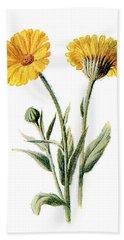 Common Marigold Flower Bath Towel