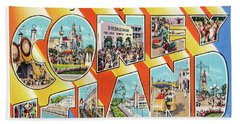 Coney Island Greetings - Version 1 Hand Towel