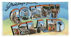 Coney Island Greetings - Version 2 Bath Towel